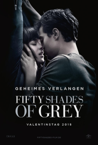 Filmplakat für Fifty Shades of Grey mit Christian Grey und Anastasia Steele