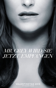Filmplakat für Fifty Shades of Grey mit Ana Steele